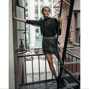 🆕 Gray Corduroy Moro Belted Mini Skirt